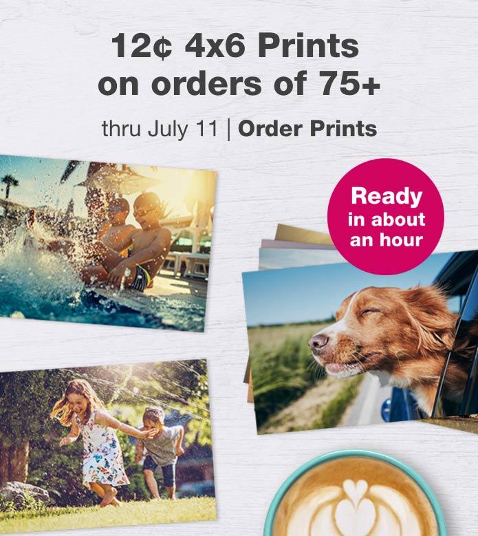 50% off Prints, Posters & Enlargements thru July 11. Order Prints.