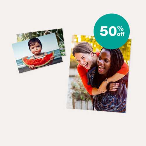 50% off Prints & Enlargements