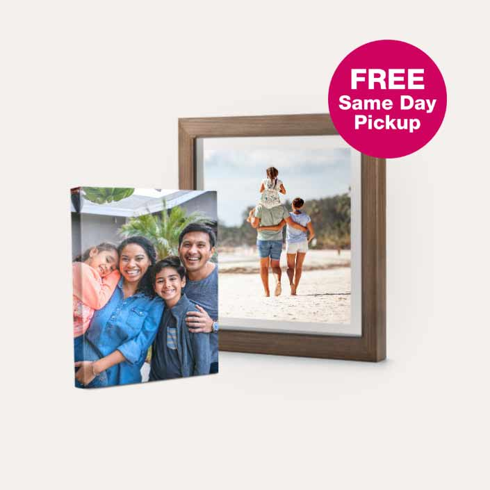 FREE Same Day Pickup. 50% off Canvas & Custom Floating Frames