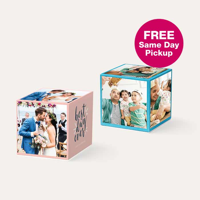FREE Same Day Pickup. 50% off Photo Cubes