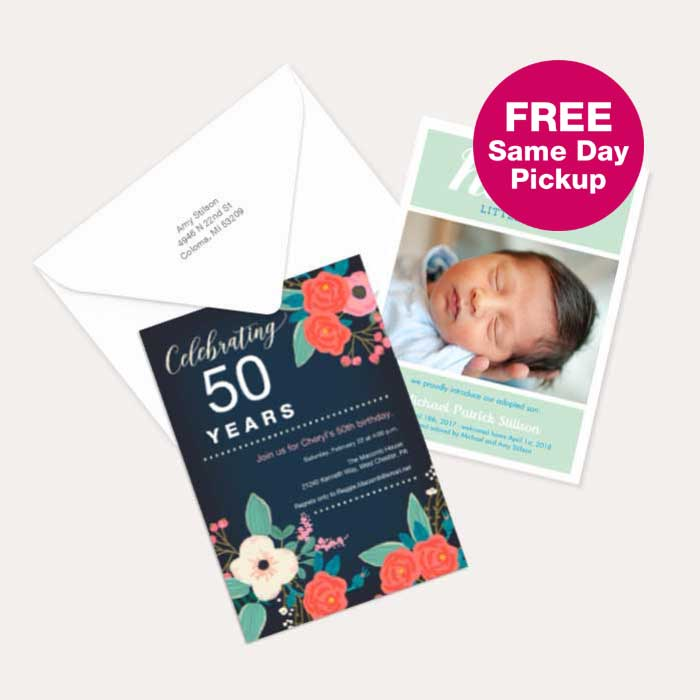 FREE Same Day Pickup. 40% off All Cards & Premium Stationery
