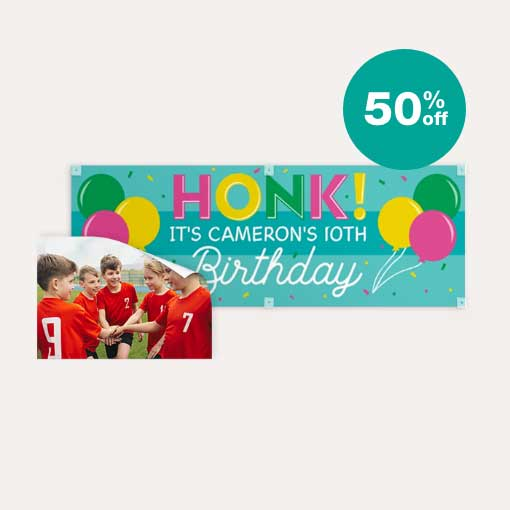 50% off Posters & Banners
