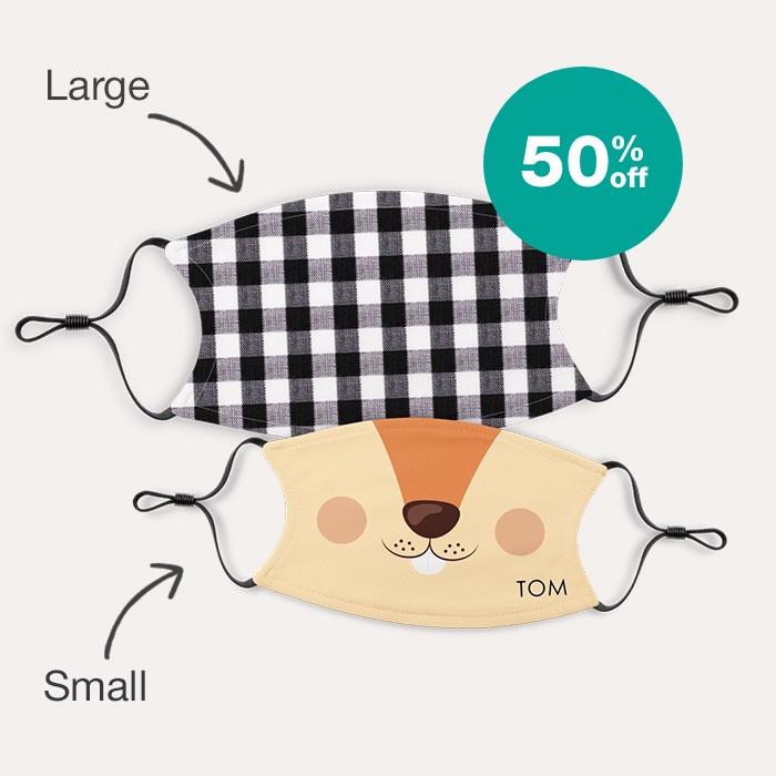 50% off Custom Face Masks