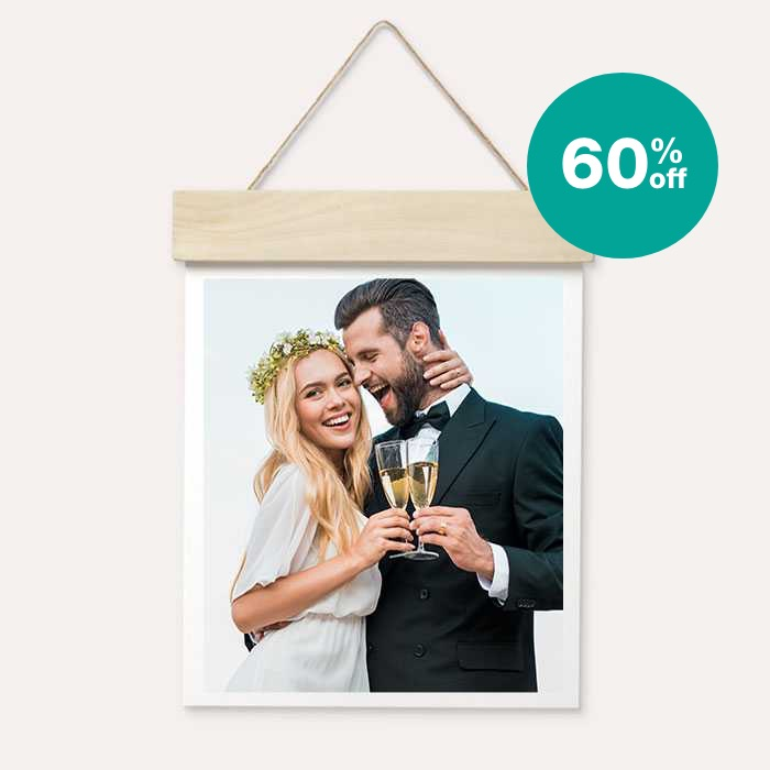 60% off Wood Hanger Board Prints