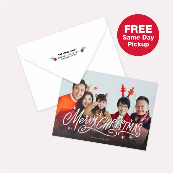 FREE Same Day Pickup. FREE return address printing with Premium Card purchase