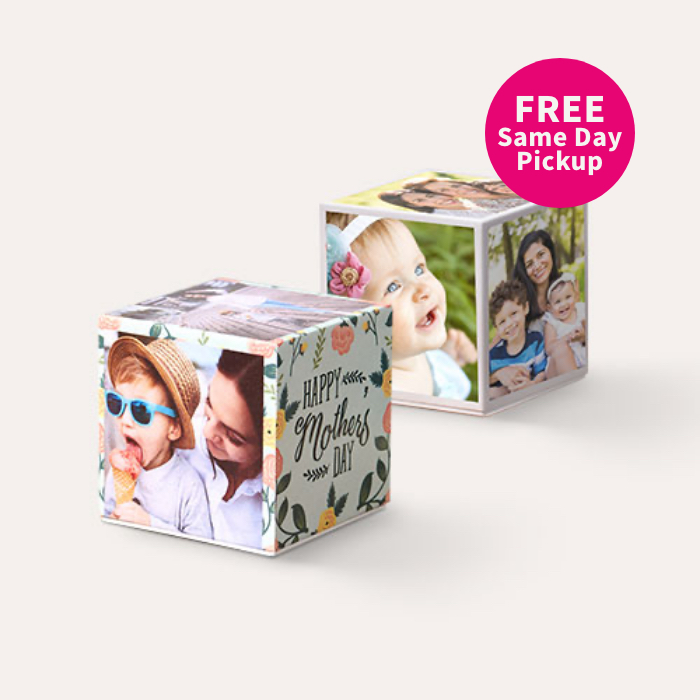 FREE Same Day Pickup. BOGO Same Day Photo Cubes.