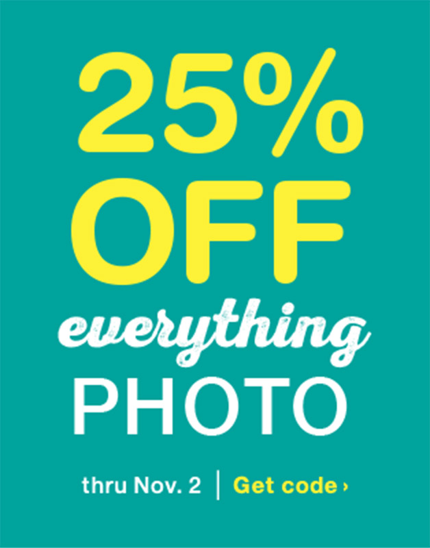 25% OFF Everything Photo