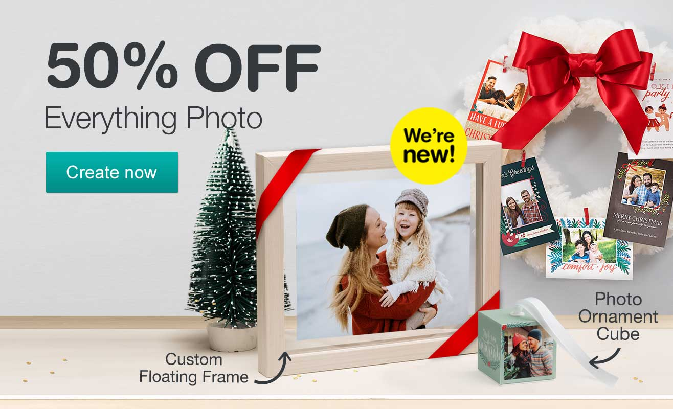 50% OFF Everything Photo. Create now.