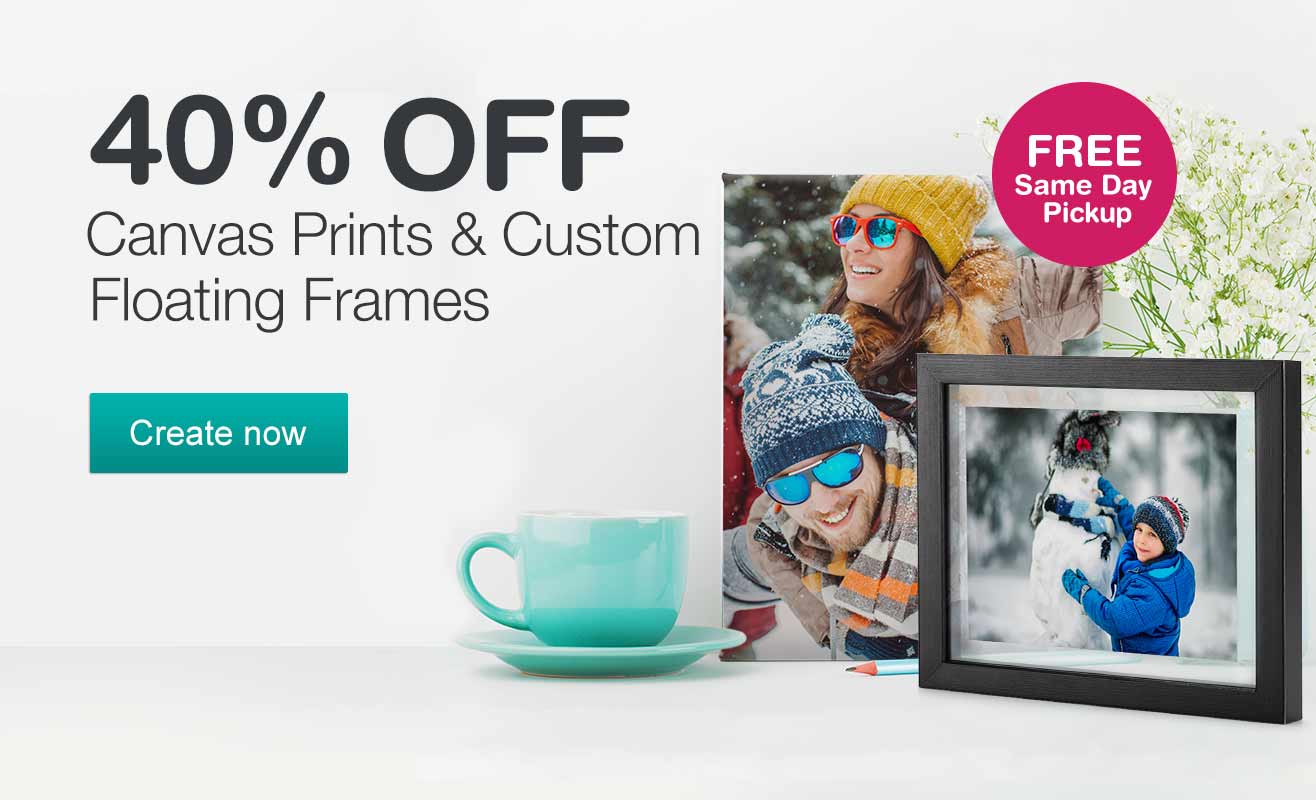 Walgreens photo same day prints cards books and gifts 40 off canvas prints custom floating frames free same day pickup create magicingreecefo Images