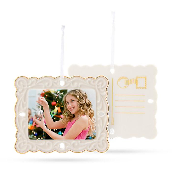 porcelain postcard photo ornament create custom ornaments